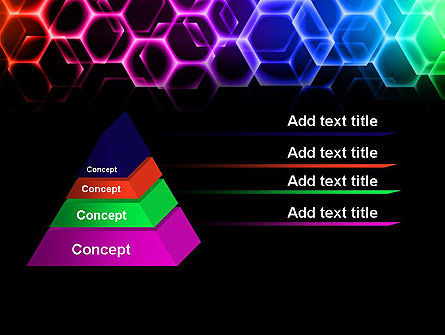 Rainbow Hexagons PowerPoint Template Slide 12