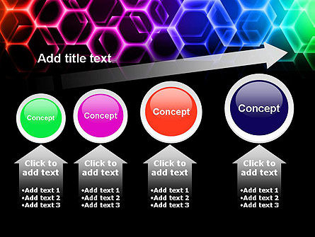 Rainbow Hexagons PowerPoint Template Slide 13
