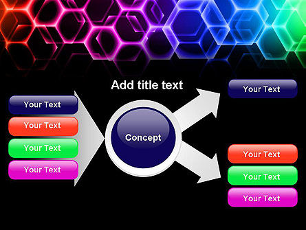 Rainbow Hexagons PowerPoint Template Slide 14