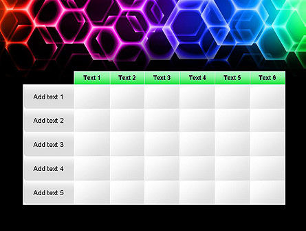 Rainbow Hexagons PowerPoint Template Slide 15