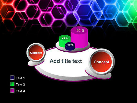 Rainbow Hexagons PowerPoint Template Slide 16