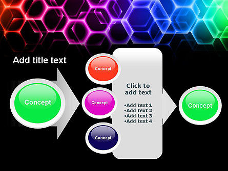 Rainbow Hexagons PowerPoint Template Slide 17