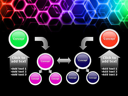 Rainbow Hexagons PowerPoint Template Slide 19