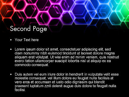 Rainbow Hexagons PowerPoint Template, Slide 2, 13251, Abstract/Textures — PoweredTemplate.com