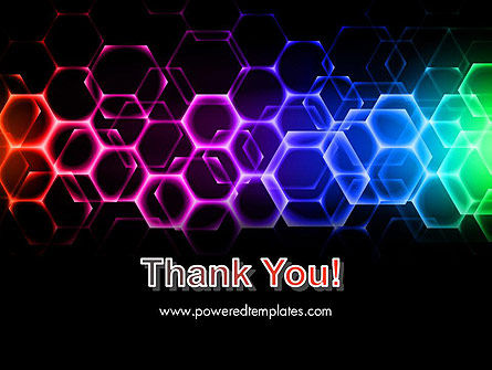 Rainbow Hexagons PowerPoint Template Slide 20