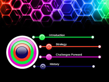 Rainbow Hexagons PowerPoint Template, Slide 3, 13251, Abstract/Textures — PoweredTemplate.com