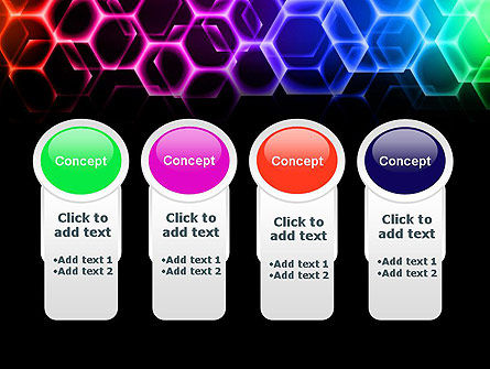 Rainbow Hexagons PowerPoint Template Slide 5