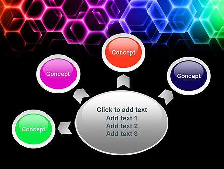 Rainbow Hexagons PowerPoint Template Slide 7