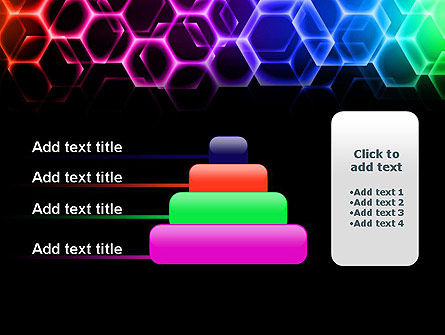 Rainbow Hexagons PowerPoint Template Slide 8