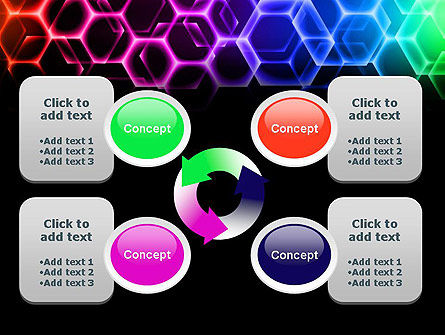 Rainbow Hexagons PowerPoint Template Slide 9