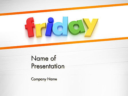 Friday PowerPoint Template, 13252, Holiday/Special Occasion — PoweredTemplate.com
