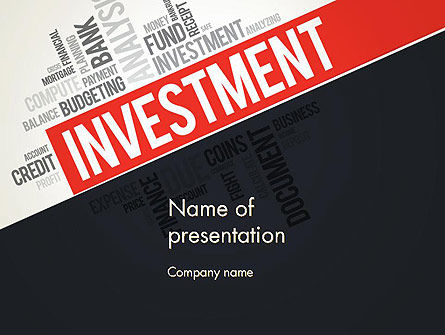 Financial/Accounting: Investment Word Cloud PowerPoint Template #13253