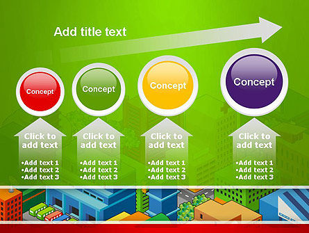 Isometric City Center PowerPoint Template Slide 13