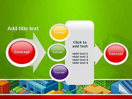 Isometric City Center PowerPoint Template Slide 17