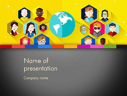 Faces Around the Globe PowerPoint Template