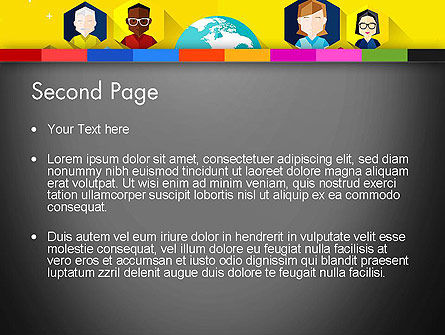 Faces Around the Globe PowerPoint Template, Slide 2, 13257, Business Concepts — PoweredTemplate.com