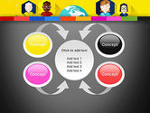 Faces Around the Globe PowerPoint Template#6