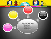 Faces Around the Globe PowerPoint Template#7