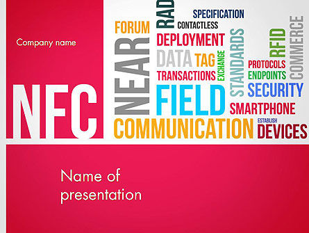 Telecommunication: Modello PowerPoint - Word cloud nfc #13258