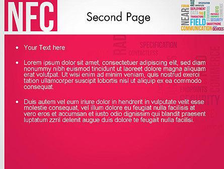 NFC Word Cloud PowerPoint Template, Slide 2, 13258, Telecommunication — PoweredTemplate.com