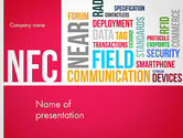 Telecommunication: Nfc Word Cloud PowerPoint Template #13258