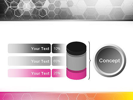 Abstract Hexagons PowerPoint Template Slide 11