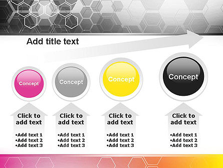 Abstract Hexagons PowerPoint Template Slide 13