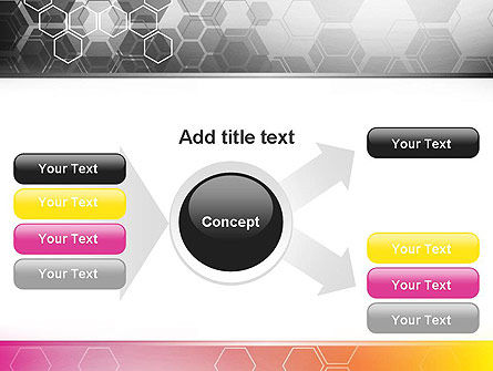 Abstract Hexagons PowerPoint Template Slide 14