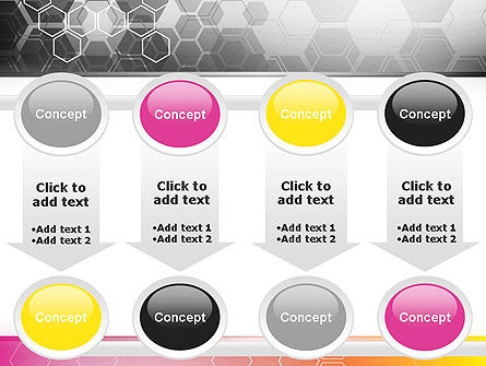 Abstract Hexagons PowerPoint Template Slide 18