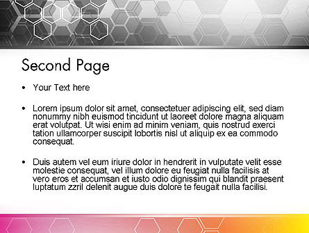 Abstract Hexagons PowerPoint Template Slide 2