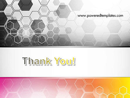 Abstract Hexagons PowerPoint Template Slide 20