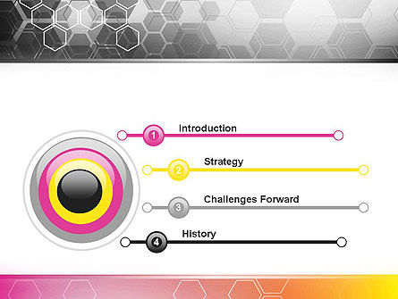 Abstract Hexagons PowerPoint Template Slide 3