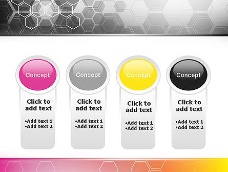 Abstract Hexagons PowerPoint Template Slide 5