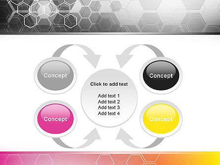 Abstract Hexagons PowerPoint Template Slide 6