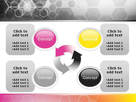 Abstract Hexagons PowerPoint Template Slide 9