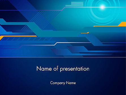 Abstract Streams and Layers PowerPoint Template
