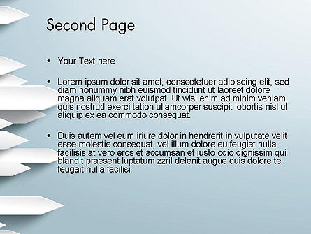 Paper Right Arrows PowerPoint template, Slide 2, 13263, Business Concepts — PoweredTemplate.com