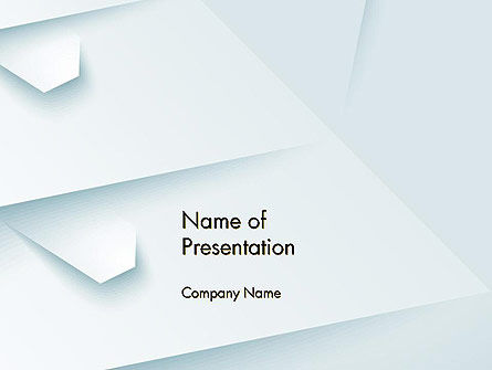 White Paper Style Abstract PowerPoint Template