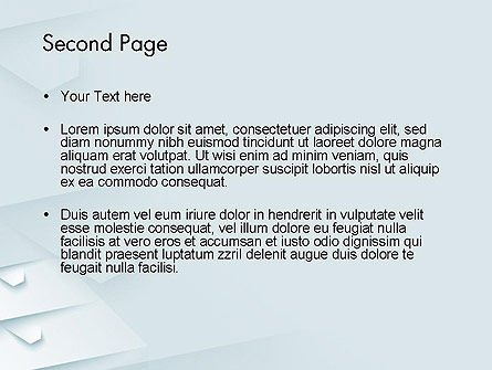 White Paper Style Abstract PowerPoint Template Slide 2