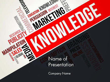 Knowledge Word Cloud PowerPoint Template