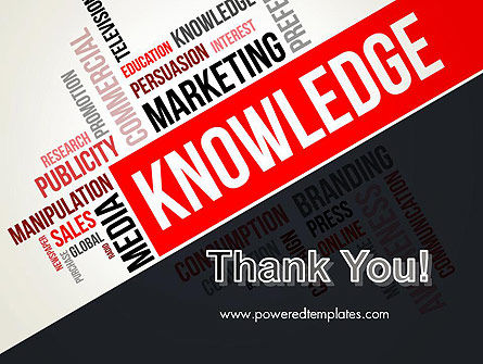 Knowledge Word Cloud PowerPoint  Template Slide 20
