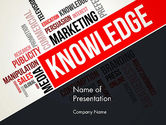 Education & Training: Knowledge Word Cloud PowerPoint Template #13265