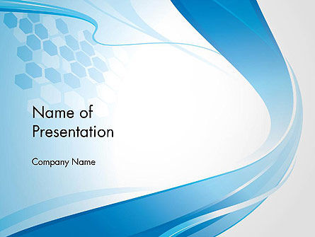 Soft Blue Wave Abstract PowerPoint Template
