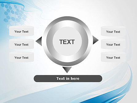 Soft Blue Wave Abstract PowerPoint Template Slide 12