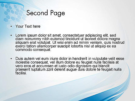 Soft Blue Wave Abstract PowerPoint Template Slide 2