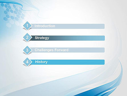 Soft Blue Wave Abstract PowerPoint Template Slide 3
