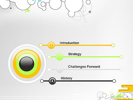 Abstract Avant Garde PowerPoint Template, Slide 3, 13267, Art & Entertainment — PoweredTemplate.com
