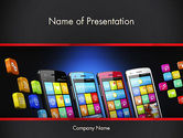 Technology and Science: Mobile Web Marketing PowerPoint Template #13268