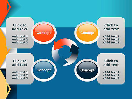 Grid Options Abstract PowerPoint Template Slide 9