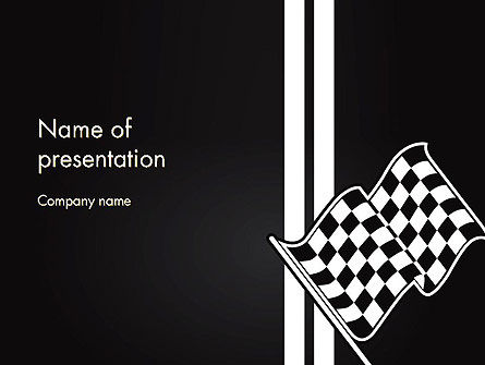 Sports: Racing Flag PowerPoint Template #13271